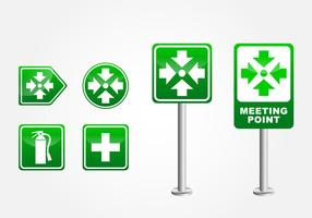 Meeting Point Sign vector