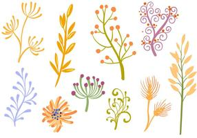 Vetores de ornamentos florais grátis