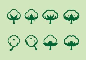 Icono de flor de algodón Vector libre