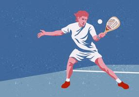Padel Tennis Player vector