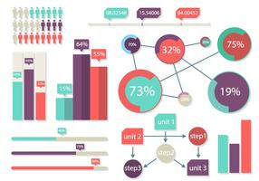 Ilustração brilhante do vetor dos elementos de infografia gráfica