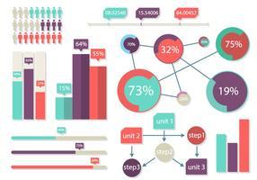 Infografía brillante Elementos Ilustración vectorial