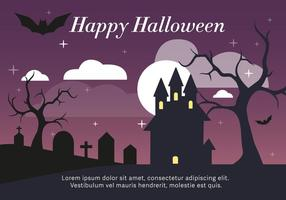Haunted House Vector Illustration