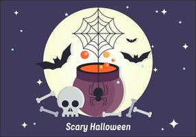 Scary Halloween Vector Illustration