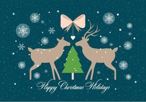 Free Christmas Vector Deers