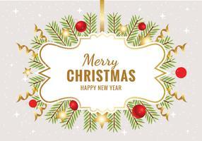 Vector de fondo de Feliz Navidad gratis