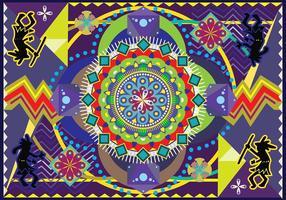 Huichol vector kunst