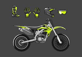 Vuil Bike Set Gratis Vector