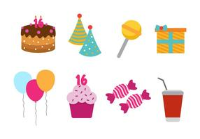 Free Sweet 16 Vector Icon