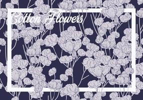 Cotton Flower Seamless Pattern