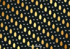 Golden Hand Drawn Christmas Vector Background