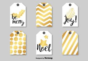 Modern Christmas Vector Tags
