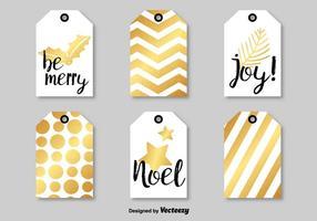 Étiquettes vectorielles modernes de Noël