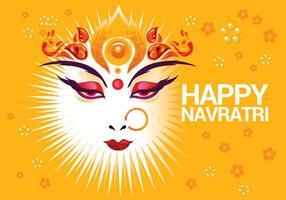 Vacker hälsningskort hinduisk festival Shubh Navratri