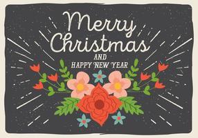 Vector libre de Navidad de fondo floral