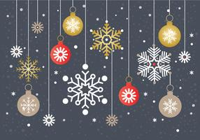 Vetor de fundo de floco de neve de natal livre