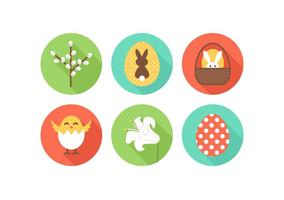 Gratis Flat Easter Vector Icons