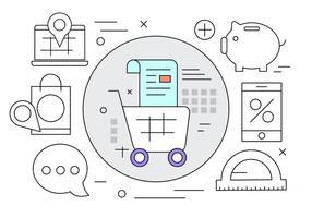 Ilustración vectorial de pago en línea