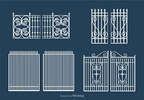 Free White Open Gate Vector Set