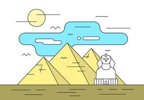 Illustration With Pyramids