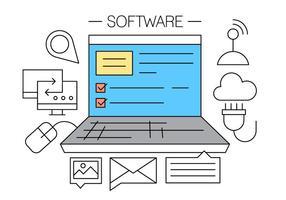 Ícones do vetor de software