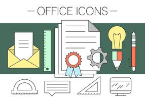 Iconos de Office gratuitos vector