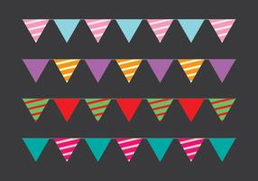 Cute Party Flag Vectors