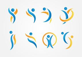 Gratis hälsosam och skönhet Logo Vector