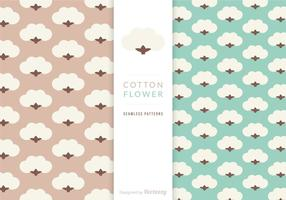 Free Vector Cotton Flower Patterns
