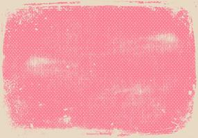 Grunge Pink Polka Dot Background