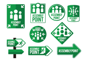 Meeting Point Icons Vector