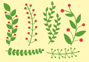 Vector de las plantas libres