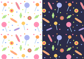 Gratis Candy Pattern Vector