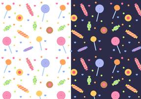 Vetor de padrão de doces livre