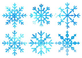 Free Watercolor Snowflakes Vector