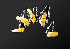 Metal Tear Finger Free Vector