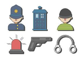 Vecteur de cambrioleur de police gratuit