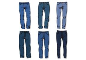 Vector Van Blauwe Jean