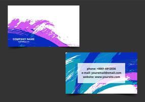 Gratis Vector Kleurrijke Visitekaartje