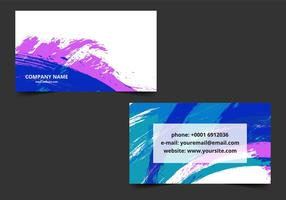 Free vector bunte Visitenkarte