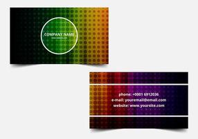 Vector libre Tarjeta de visita colorida