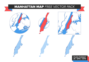 Pacote Vector Gratuito do Mapa de Manhattan