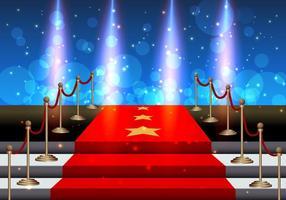 Trappen bedekt met rood tapijt