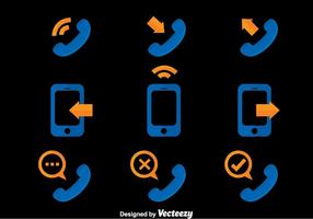 Telefoon Communicatie Pictogrammen Vector