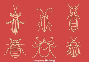 Hand Drawn Small Bug Vector Set