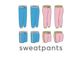 Sweatpants vektorer