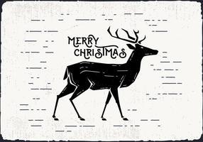 Vector Deer Navidad gratis
