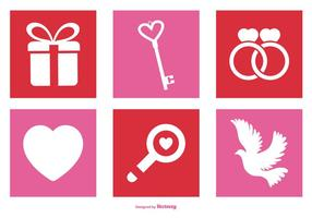 Valentinstag Icon Set