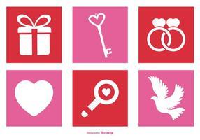 Alla hjärtans dag ikonuppsättning