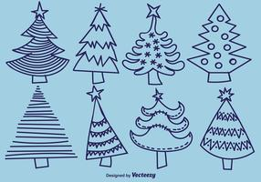 Hand-drawn Pine Vector Icons